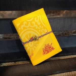 Handmade Recycled Paper Fabric Cover Journal